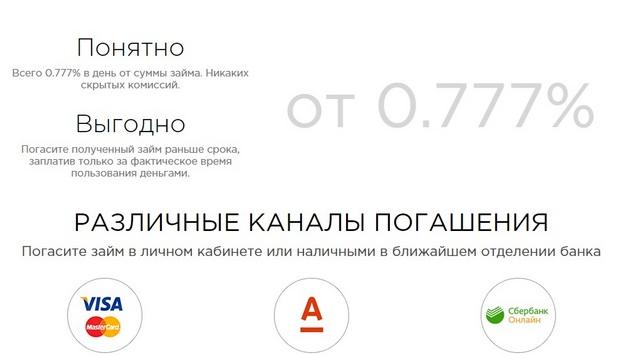 Способыпогашения займа в«Турбозайме»